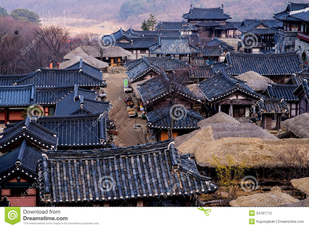 Roof Of Korean Style Castle Stock Photography Image
