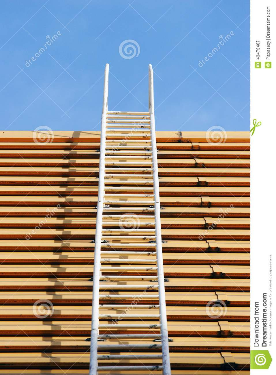 Roof ladder stock image  Image of wall, construction - 43473467
