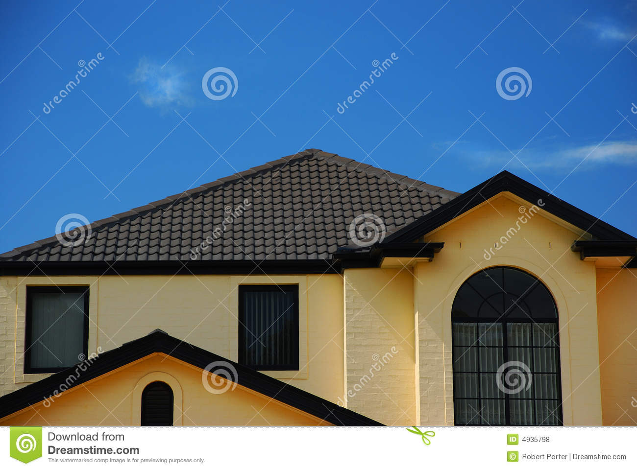 Roof Line Royalty Free Stock Photos Image 4935798