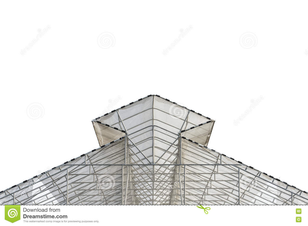 The Roof Mesh Plant Nursery On A White Background  Stock