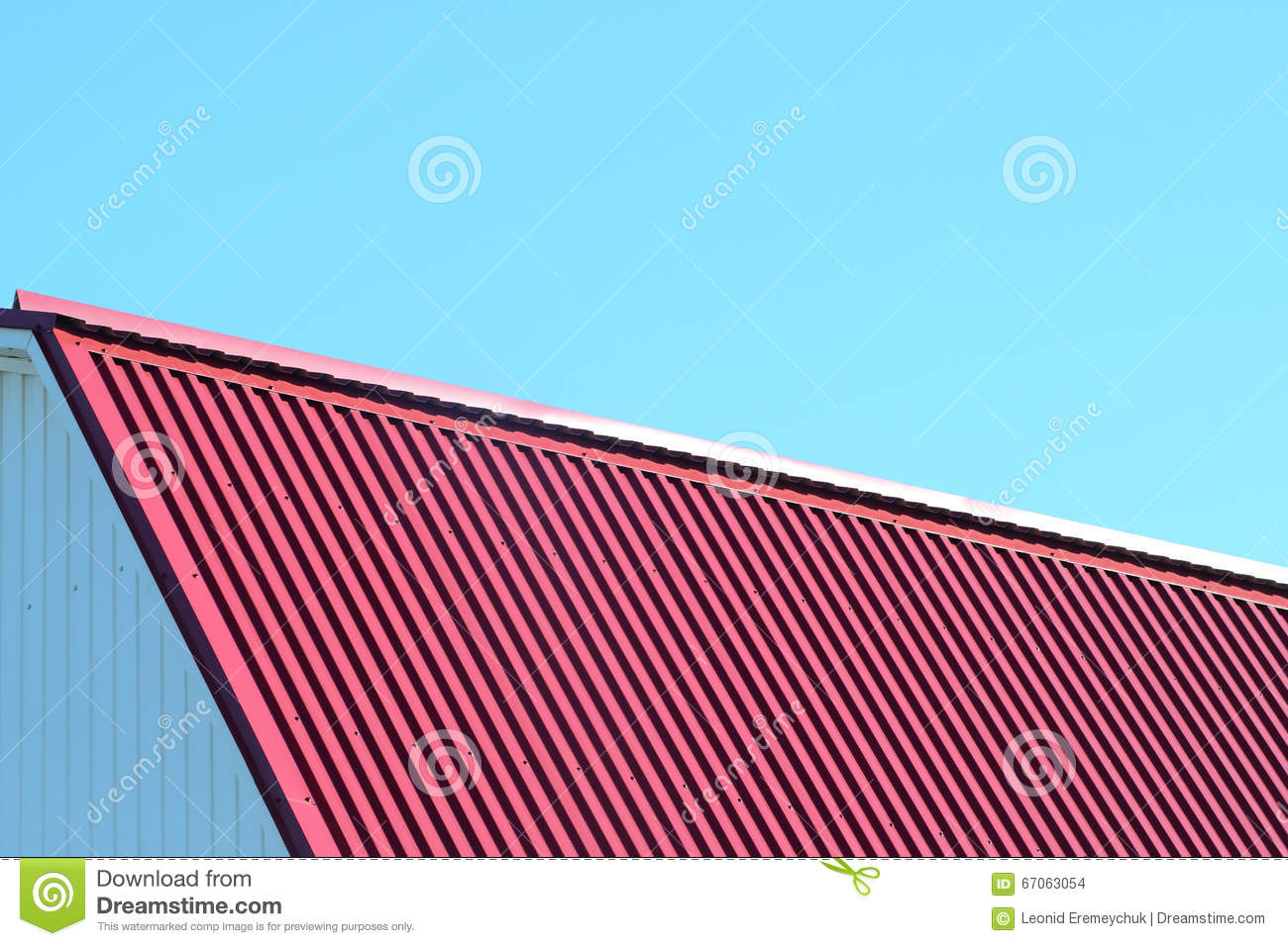 Roof metal sheets stock photo image 67063054 for Contemporary roofing materials