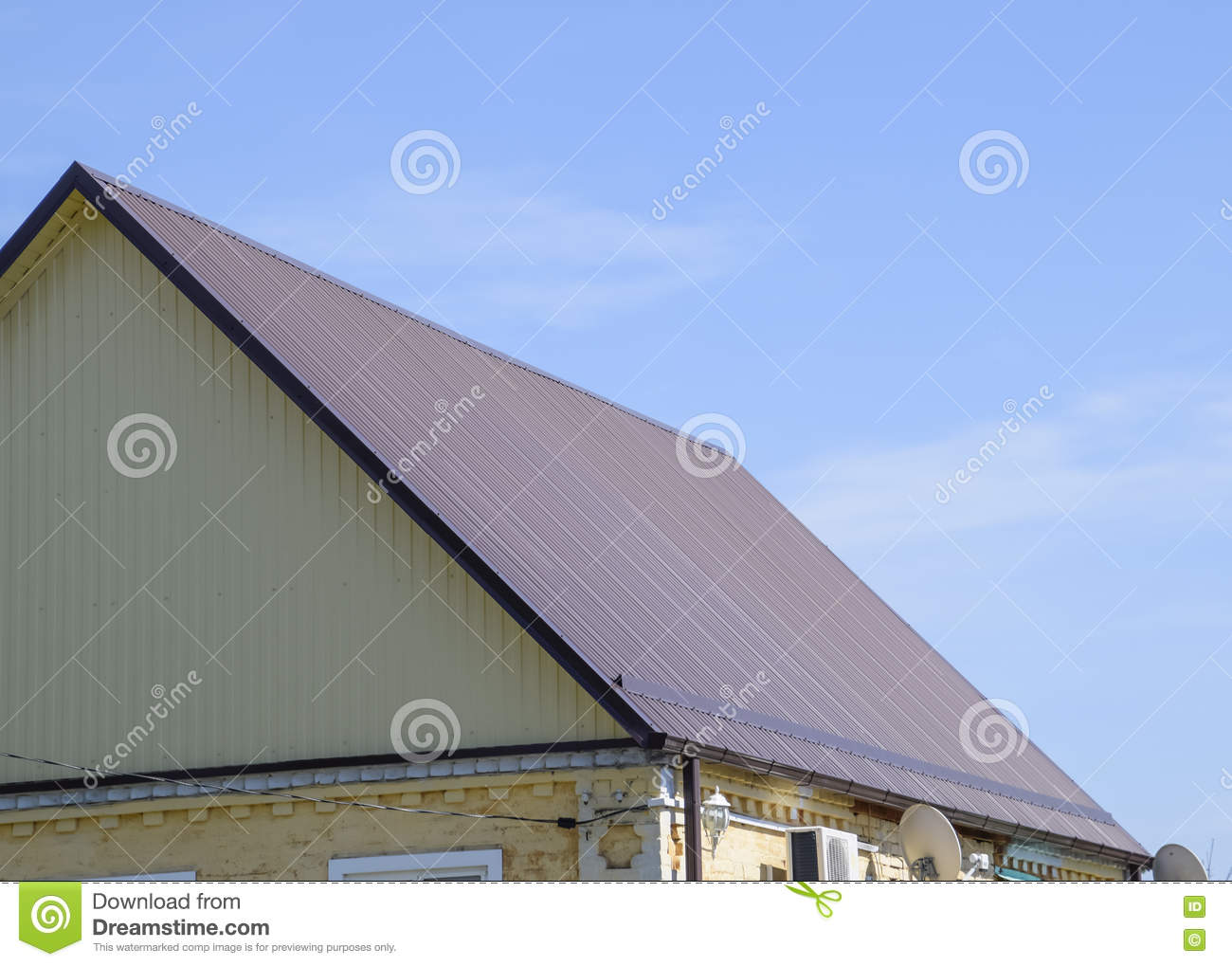 Roof metal sheets stock photo image 71917715 for Modern roofing materials