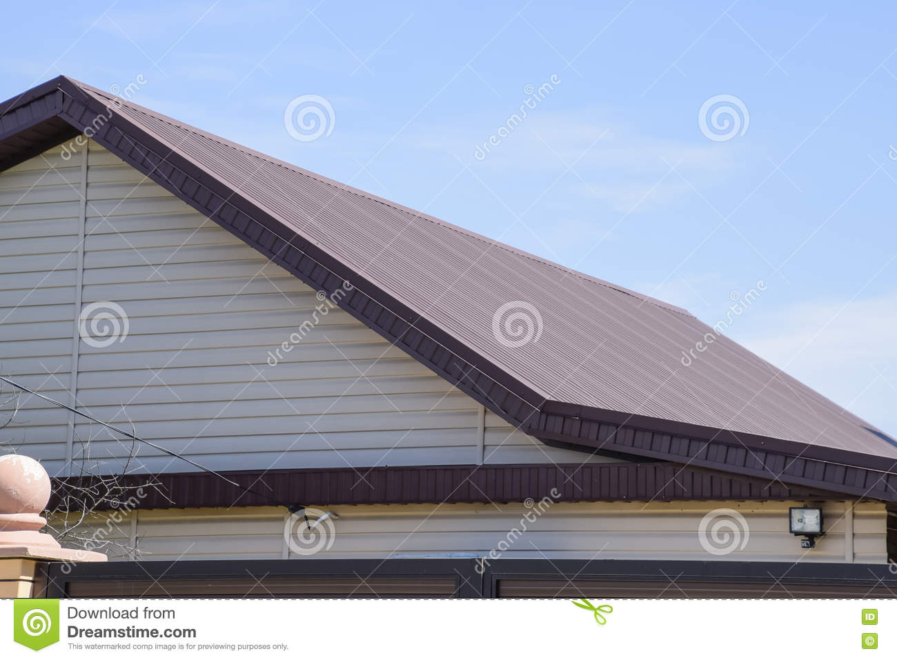Roof metal sheets stock image image of metal style for Modern roofing materials