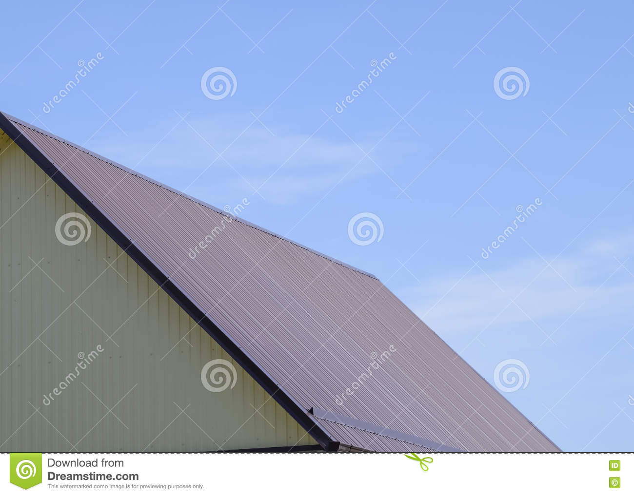 Roof metal sheets stock photo image 71921236 for Modern roofing materials