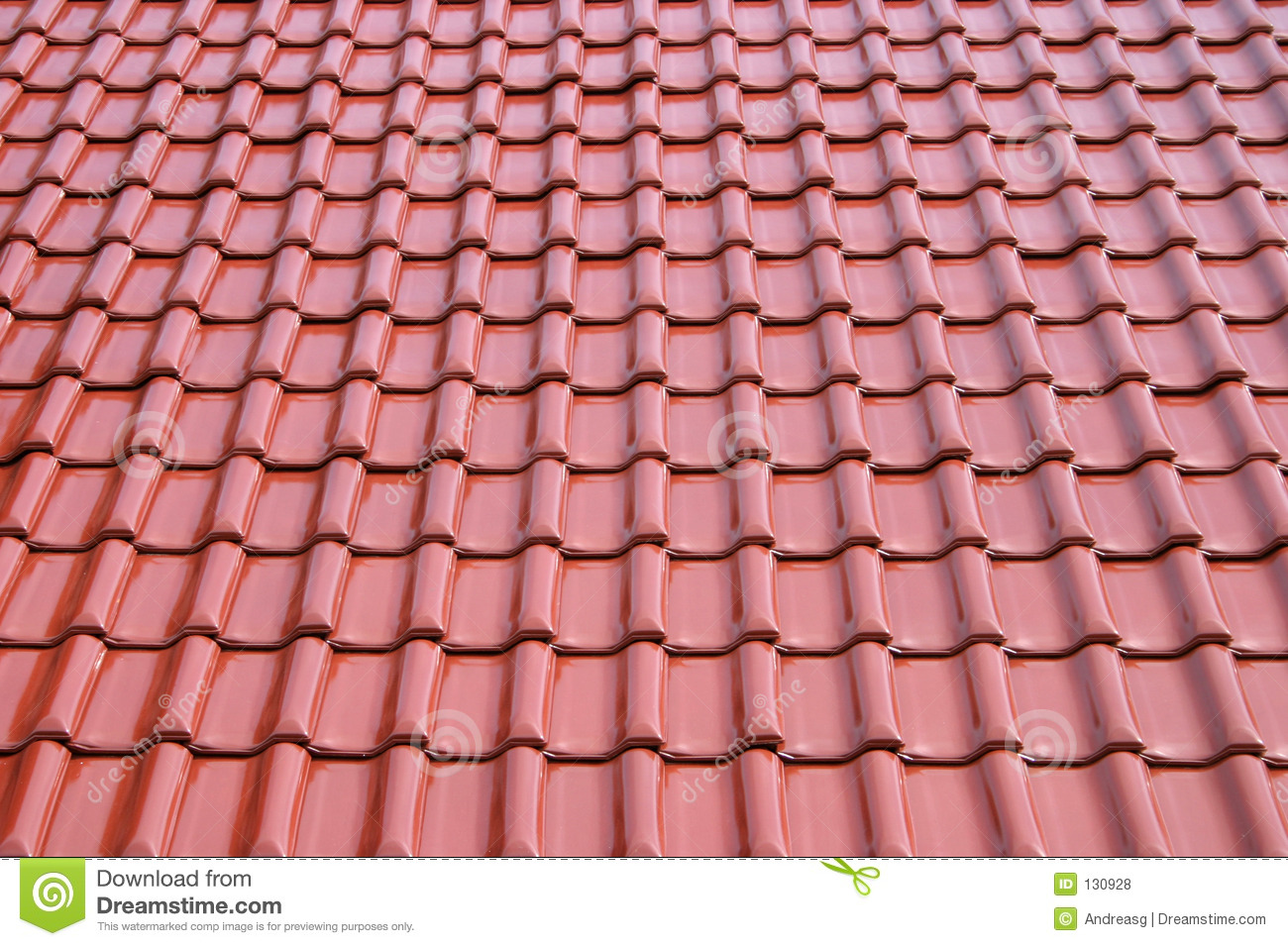 Roof Metal Tile Sheet Royalty Free Stock Photos Image