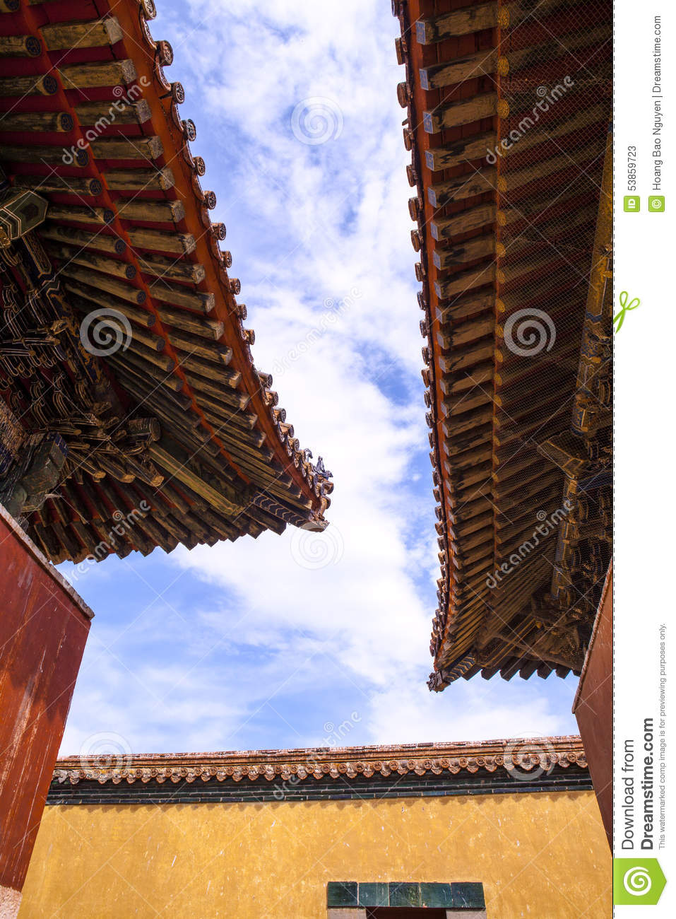 The Roof of Monastery in Mongolia