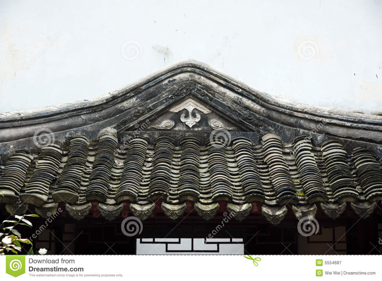 roof of old chinese building stock image image of exterior tiled