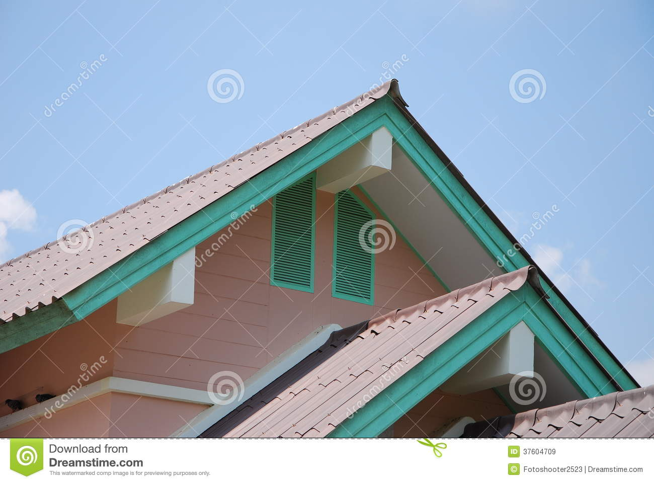 roof and outdoor design of thai house royalty free stock images