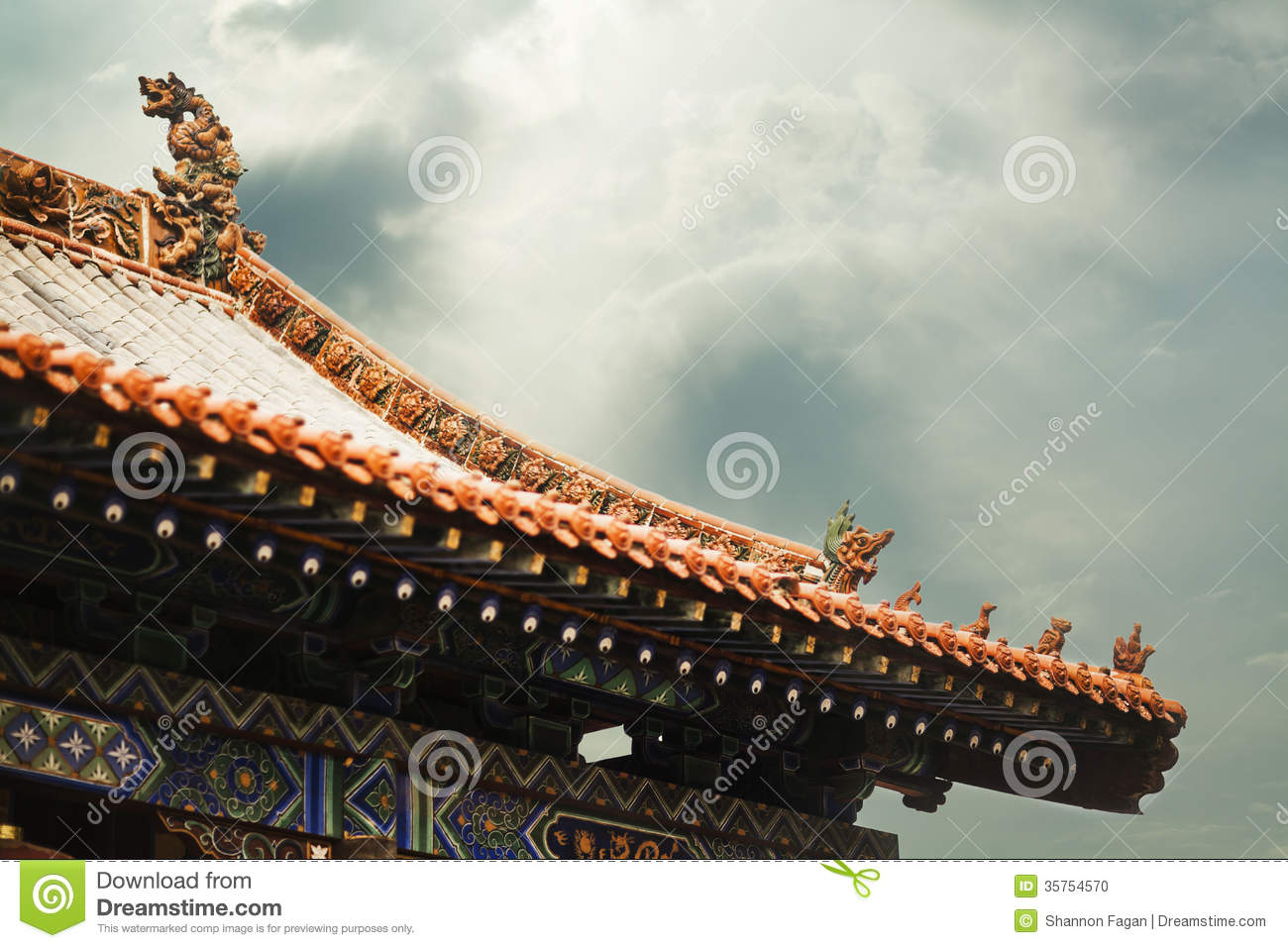 Roof Of The Pagoda Chinese Architecture Shanxi Province