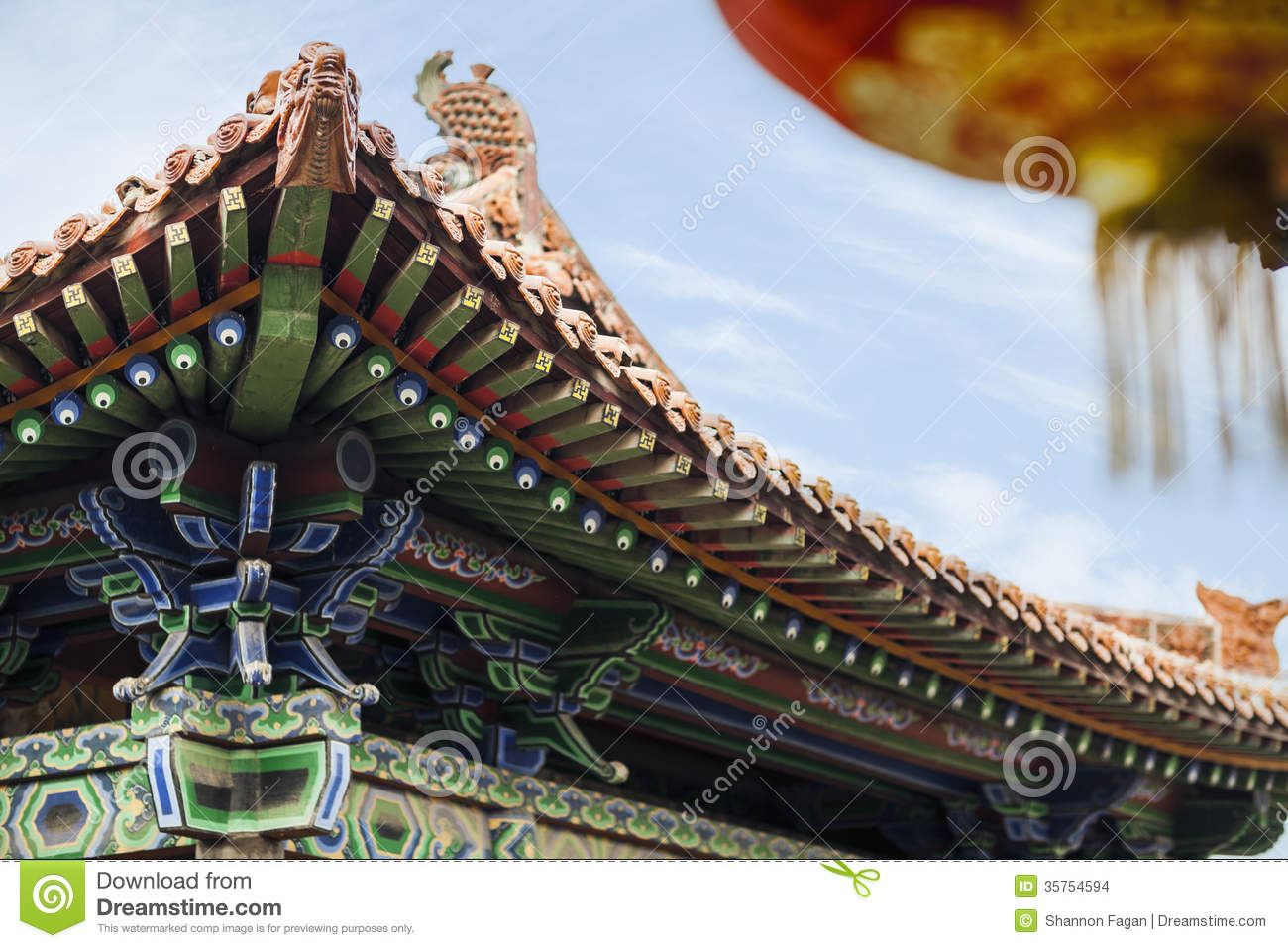 Roof Of The Pagoda Chinese Architecture Shanxi Province China People Design