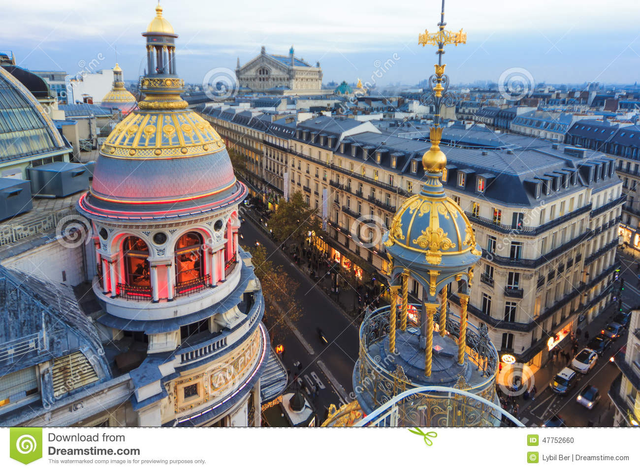 Roof Of Paris Editorial Image Image Of Famous