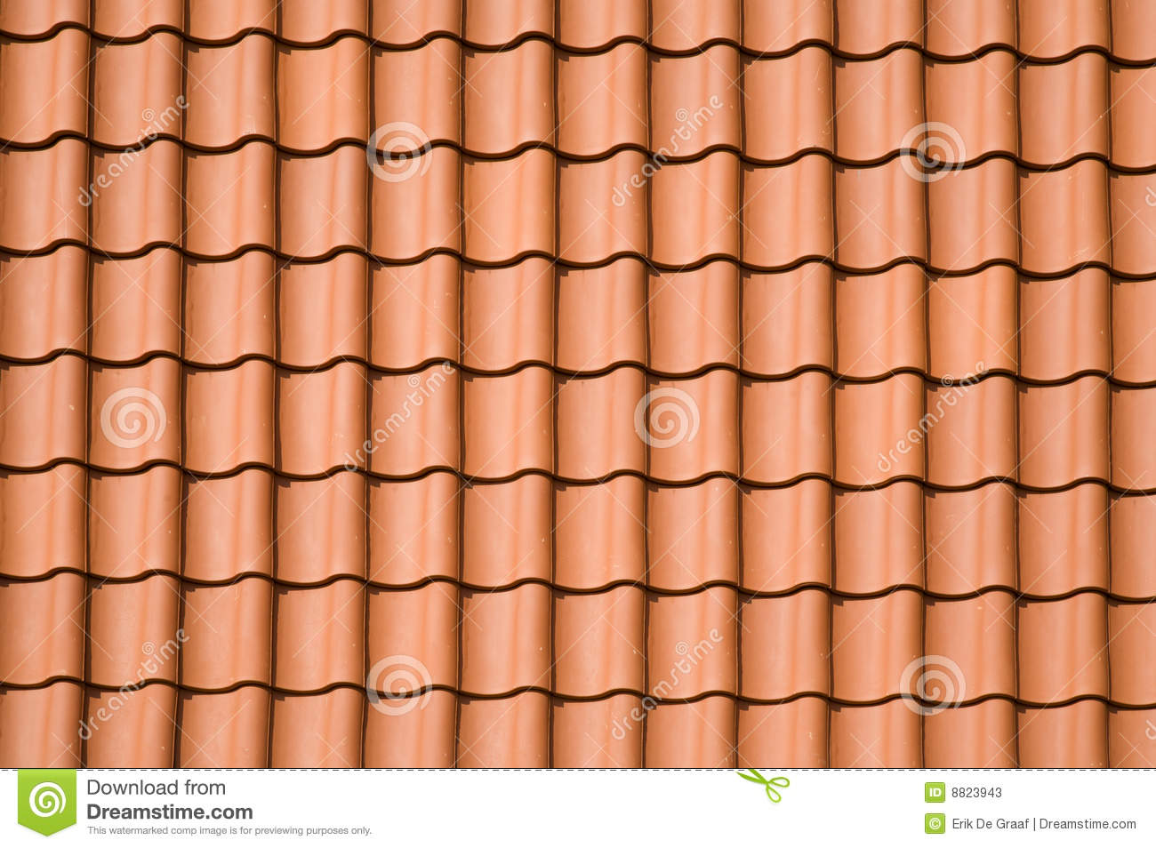 Clay Roof Tile Roof Pattern Stock Photos - Image: 8823943