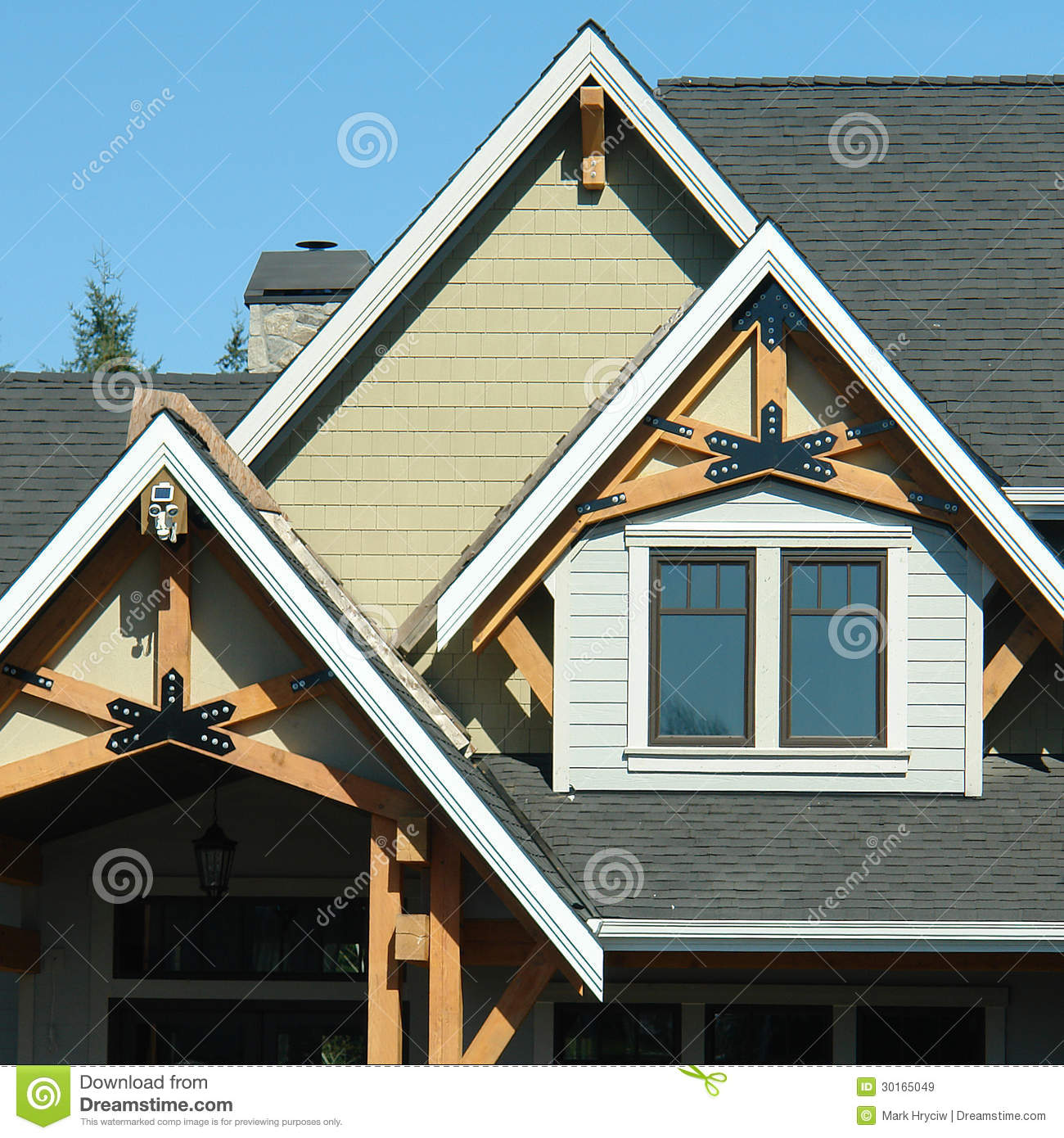 Home exterior roof details royalty free stock images for Custom home design online