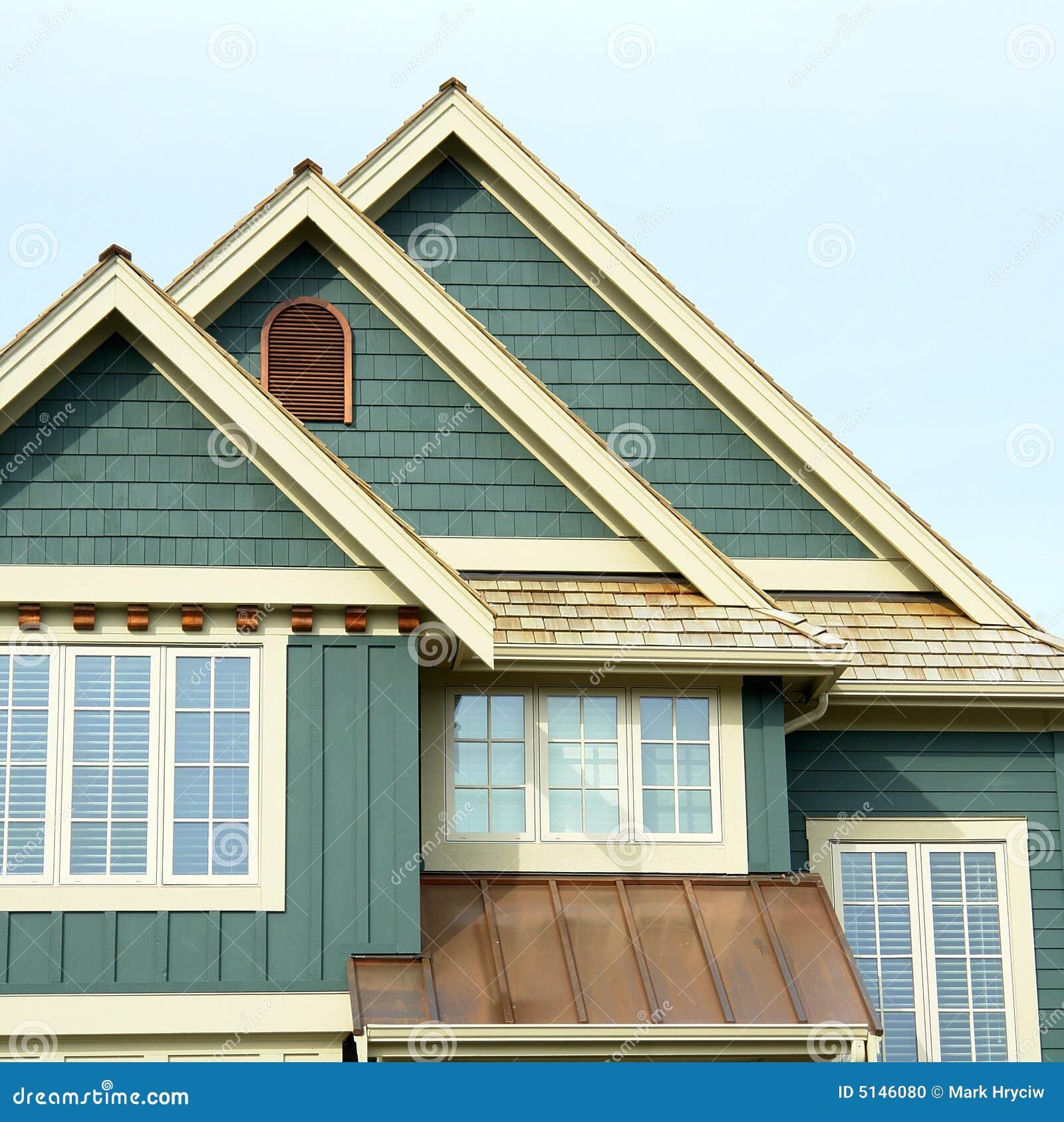 Roof Peaks House Home