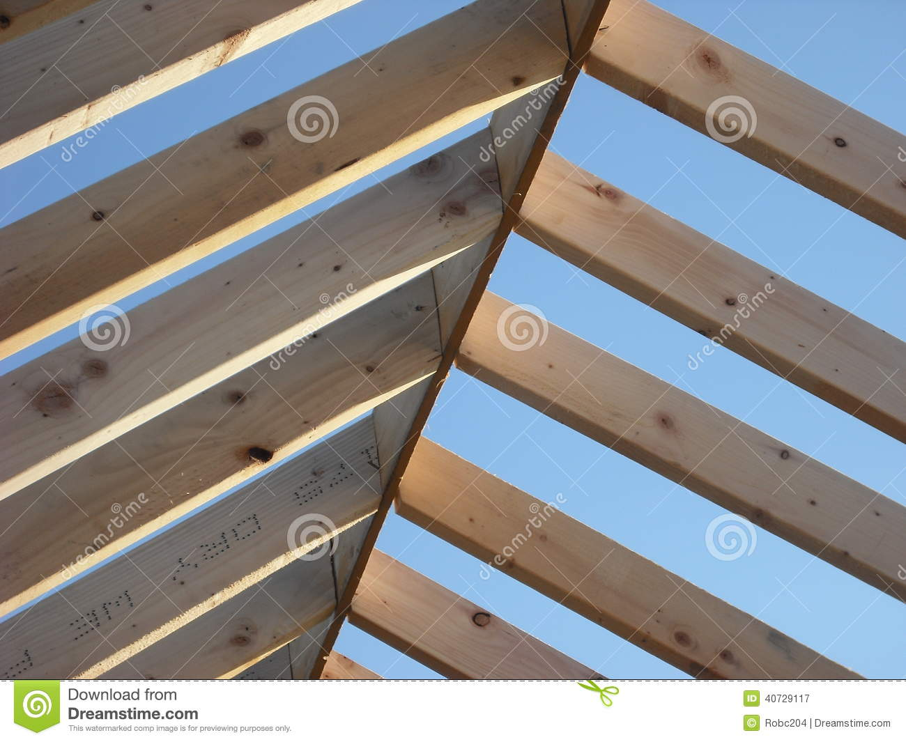 Roof Rafters Stock Photo Image 40729117