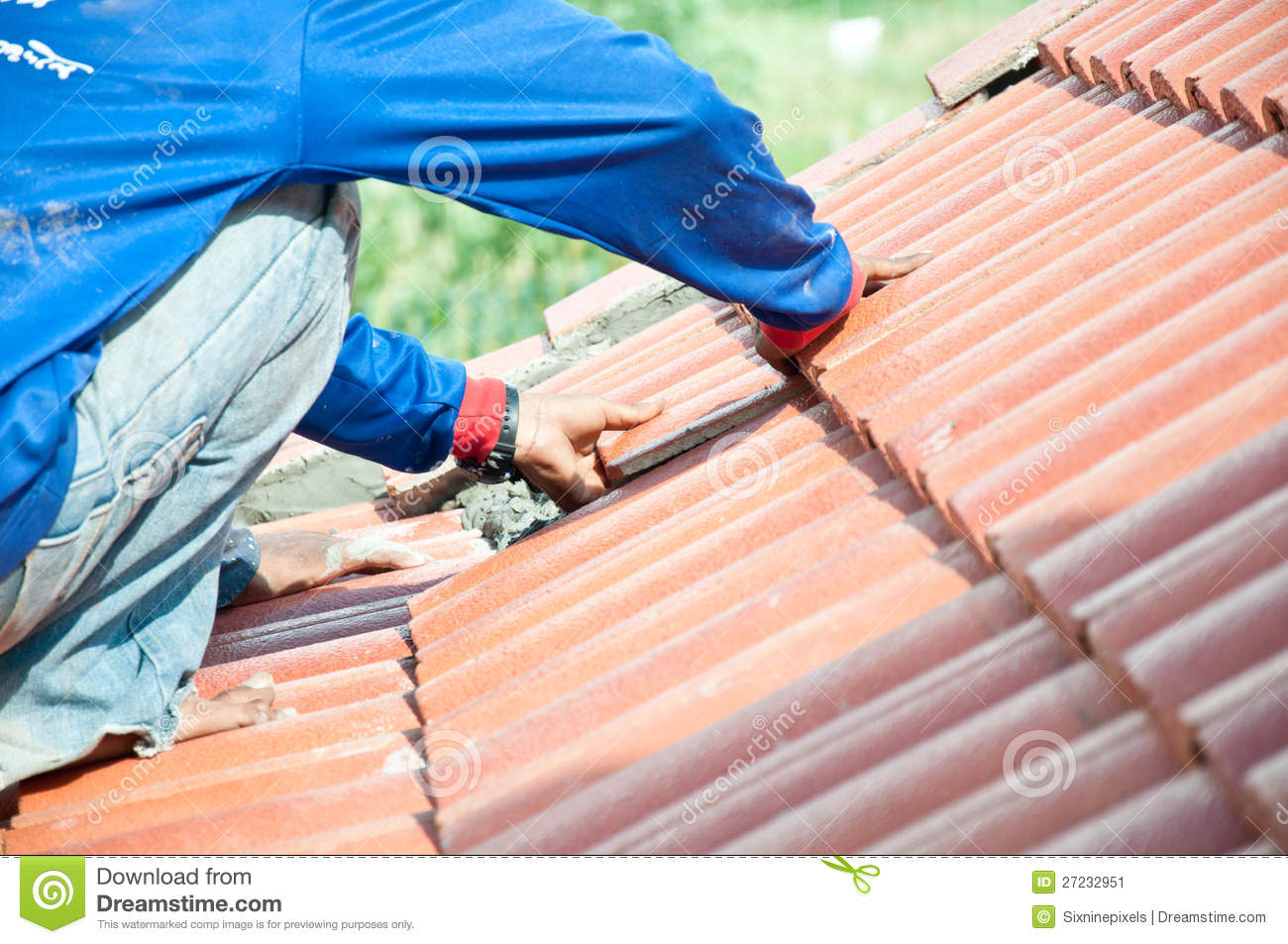 Roof Repair Stock Image Image Of Roofer Line Construct