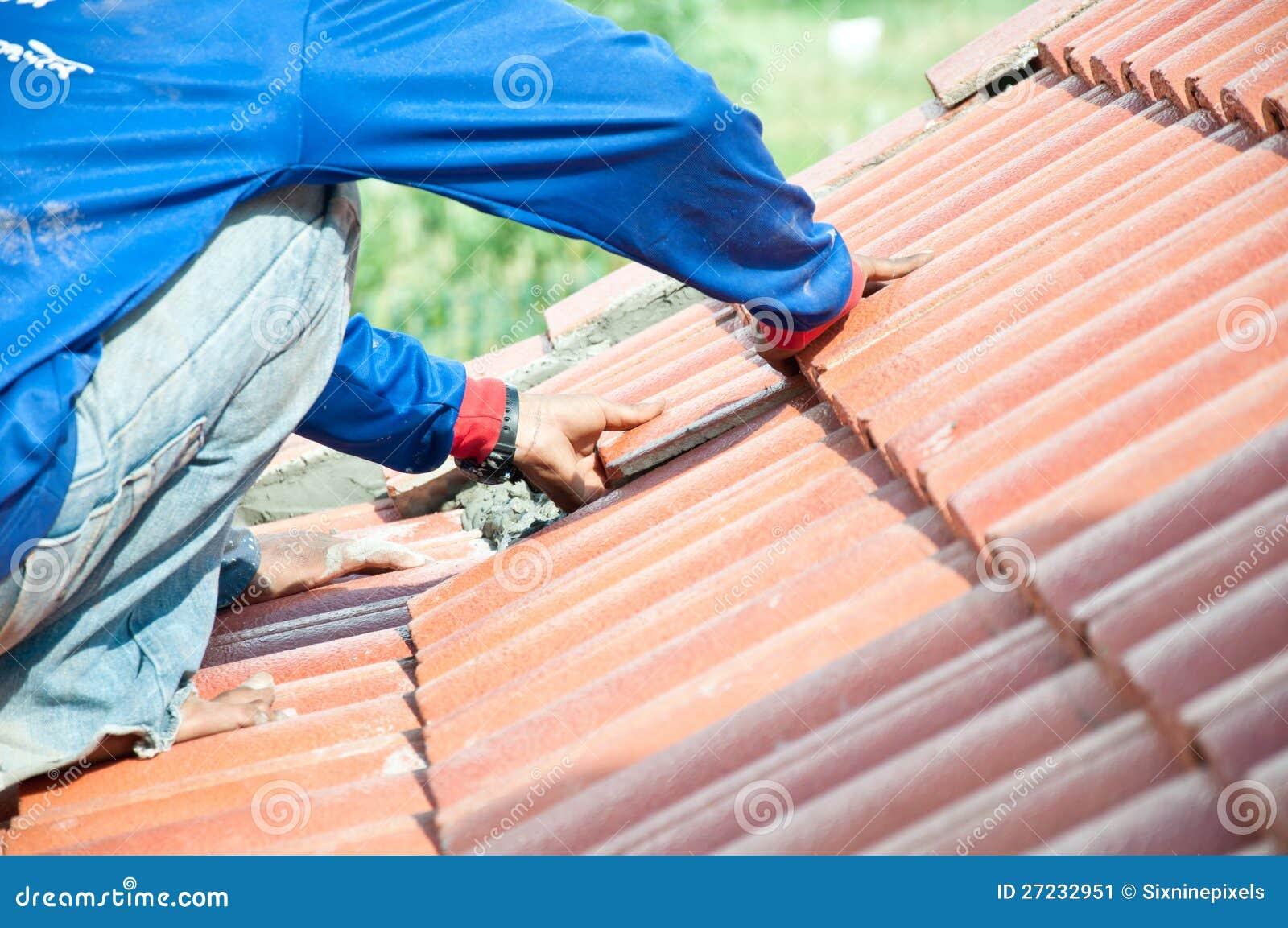 Roof Repair Stock Image Image 27232951