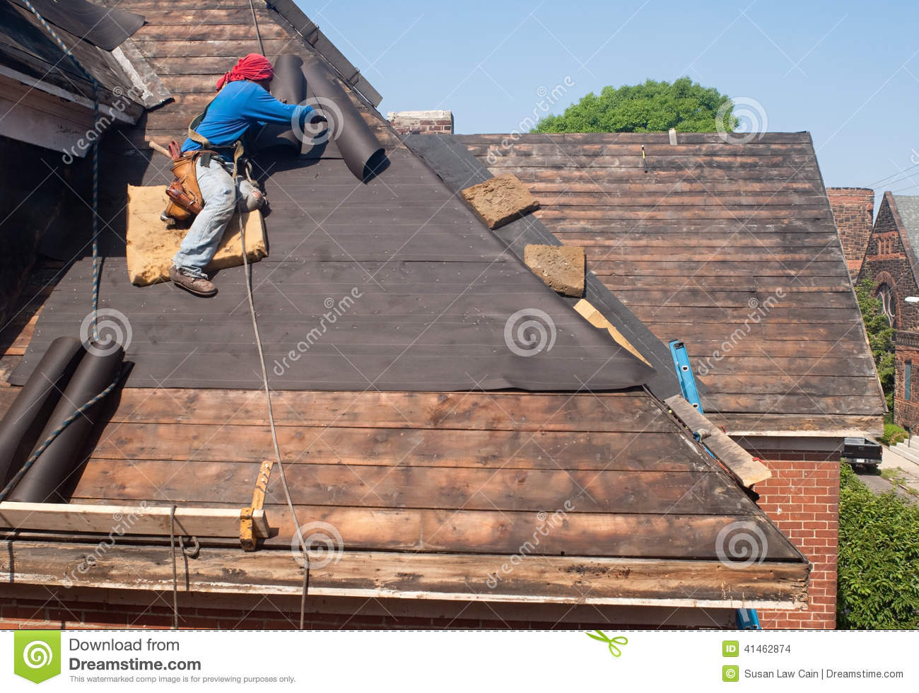 Roof Repair Stock Photo Image 41462874