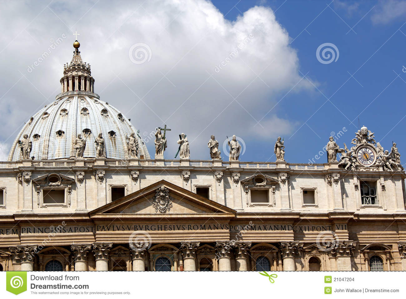 The Roof Of St Peters Basilica The Vatican Stock Photo