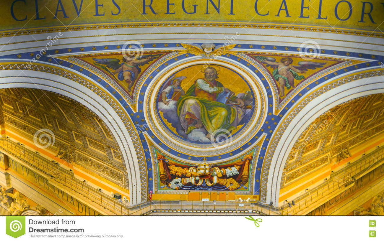 Roof St Peters Basilica Vatican Stock Photos 838 Images