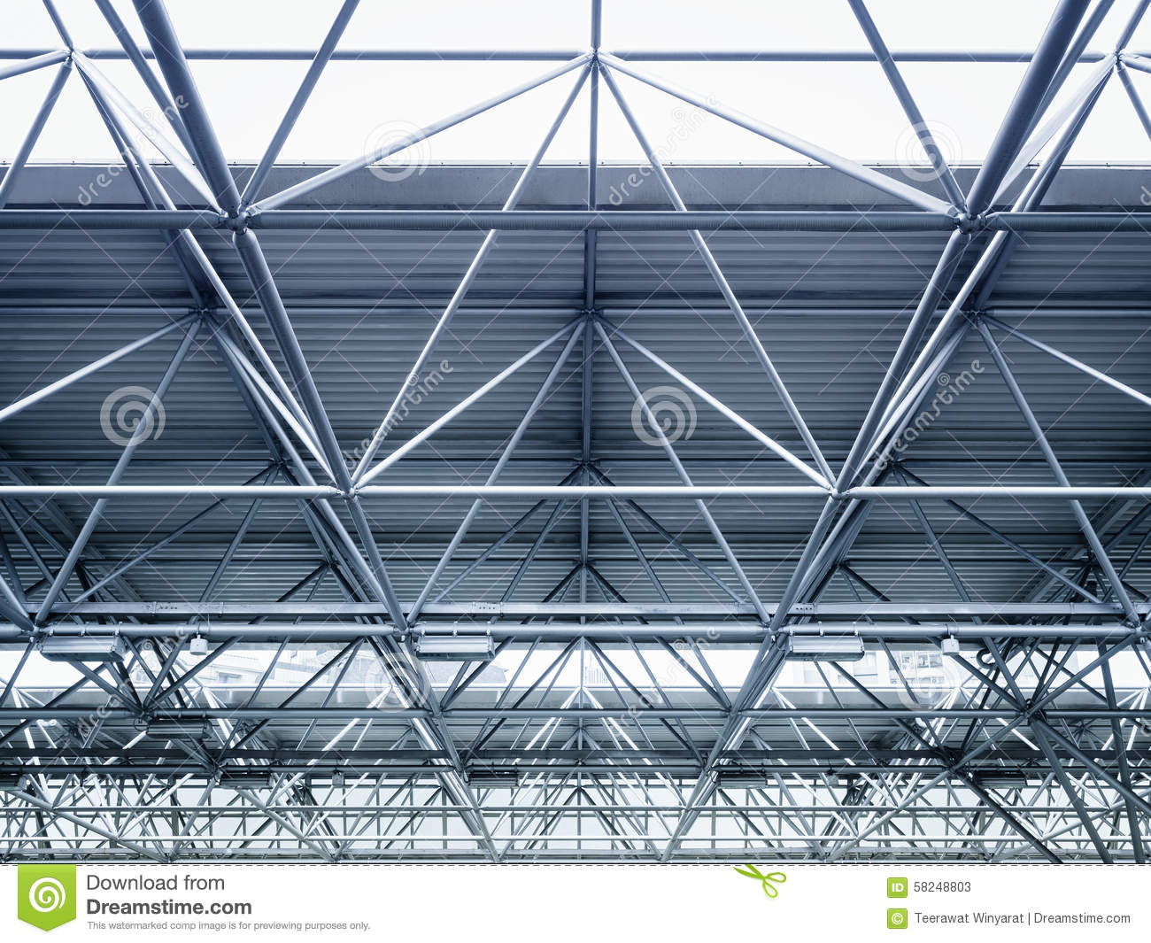 Modern Architecture Detail roof steel construction modern architecture detail stock photo
