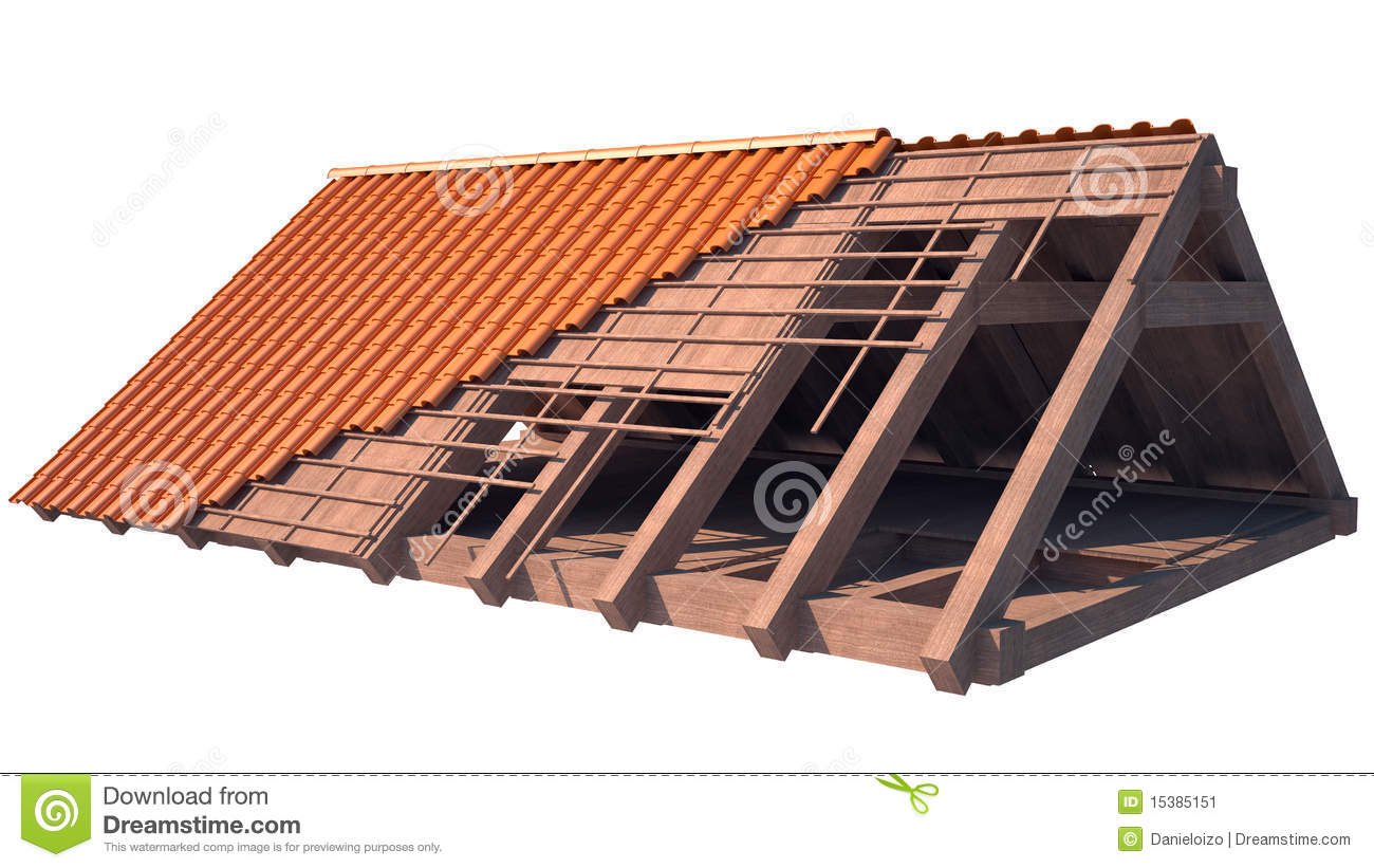 Roof structure stock illustration illustration of detail for House roof construction