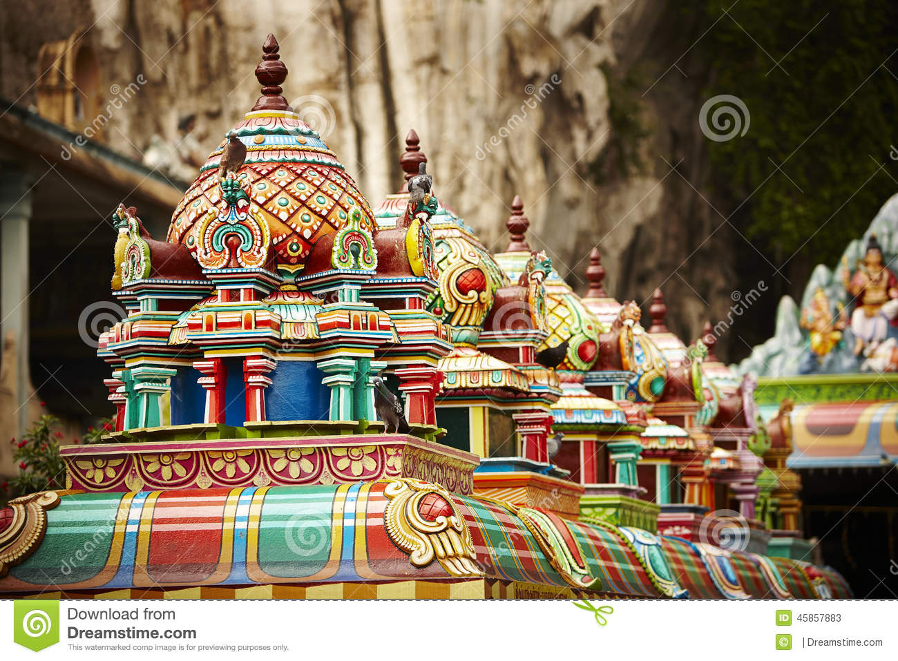 Roof structure of Batu Caves, Malaysia