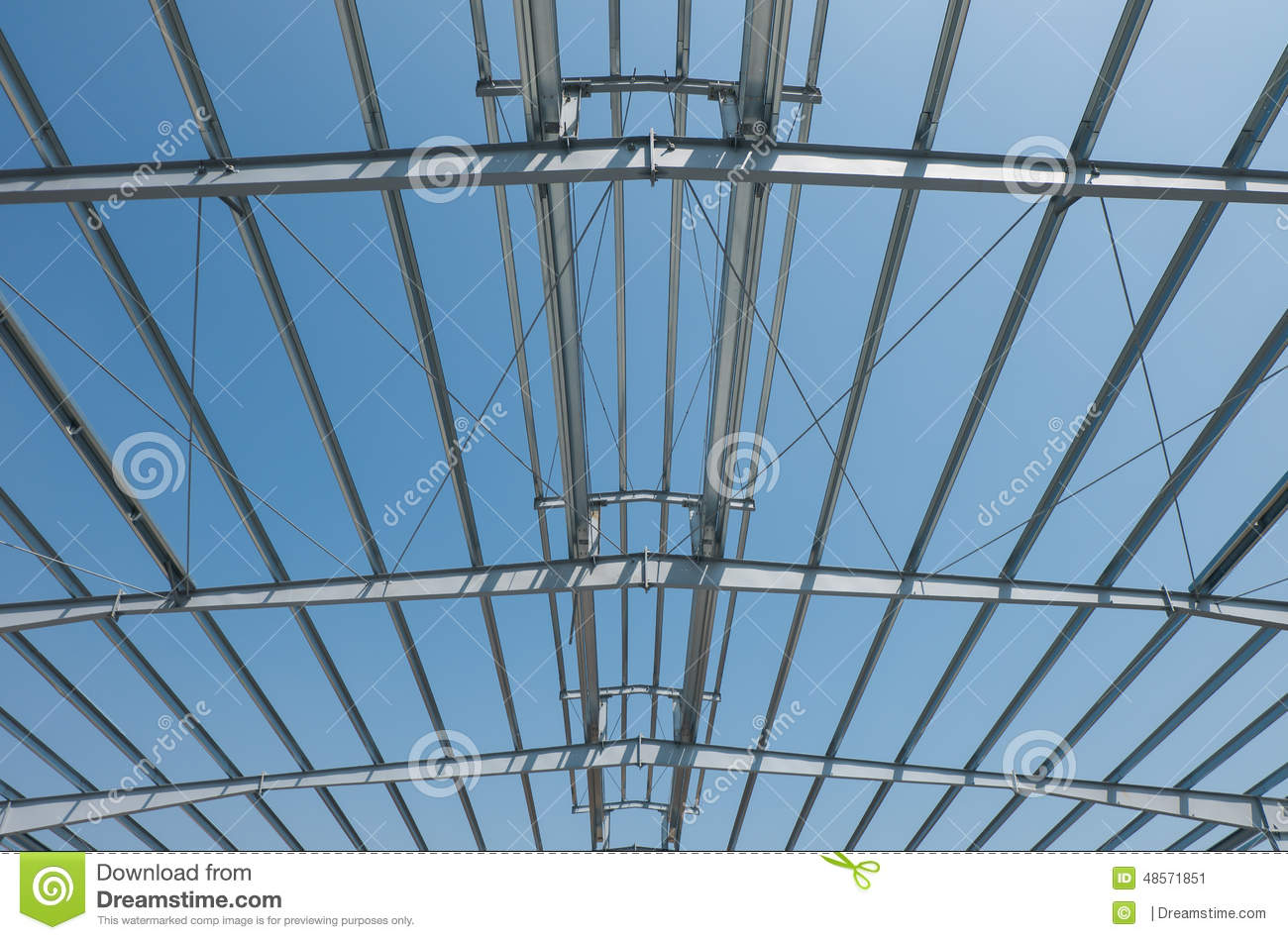 Roof Structure Stock Photo Image 48571851