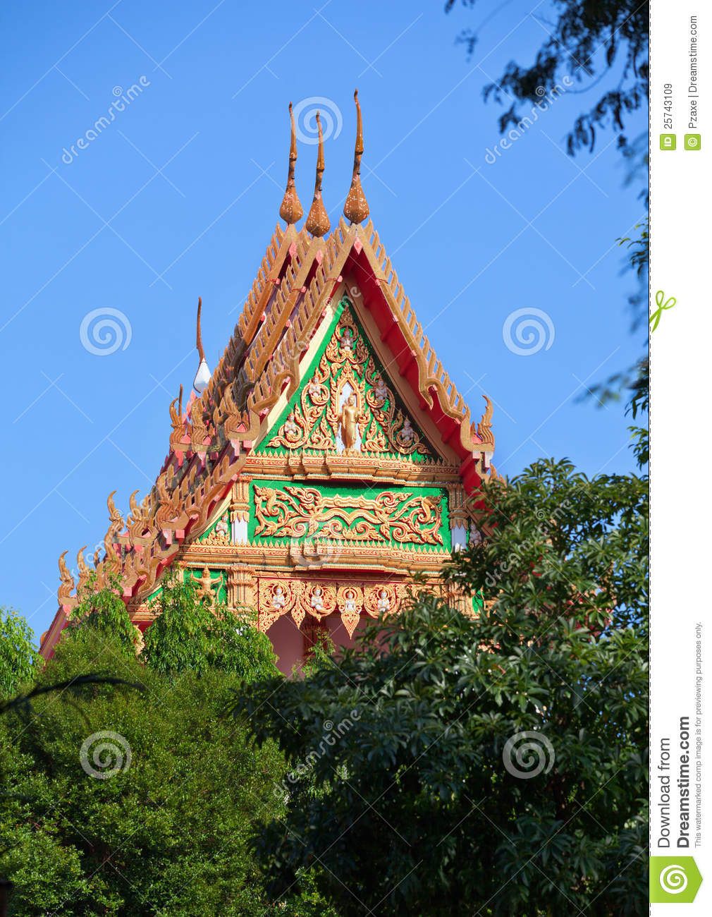 Roof of the Thai Monastery