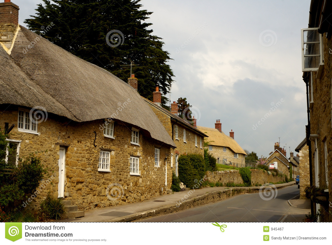 Roof thatached cottages