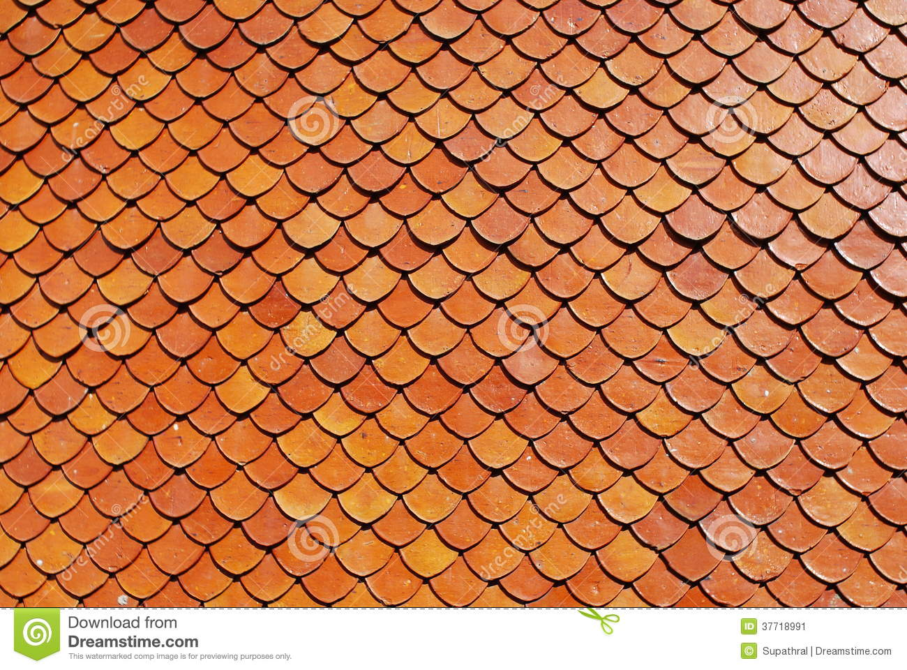 Roof Tile Brick Red Colour Background Stock Image Image