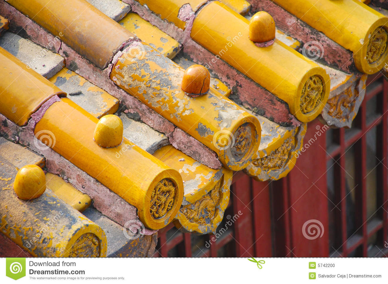 Roof Tile Forbidden City China Stock Photo Image 5742200