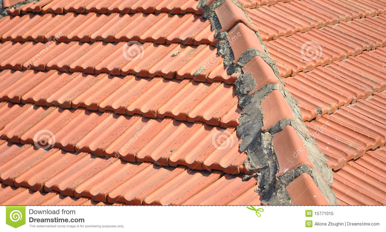 Roof Tile Old Stock Image Image Of Protective Moulded
