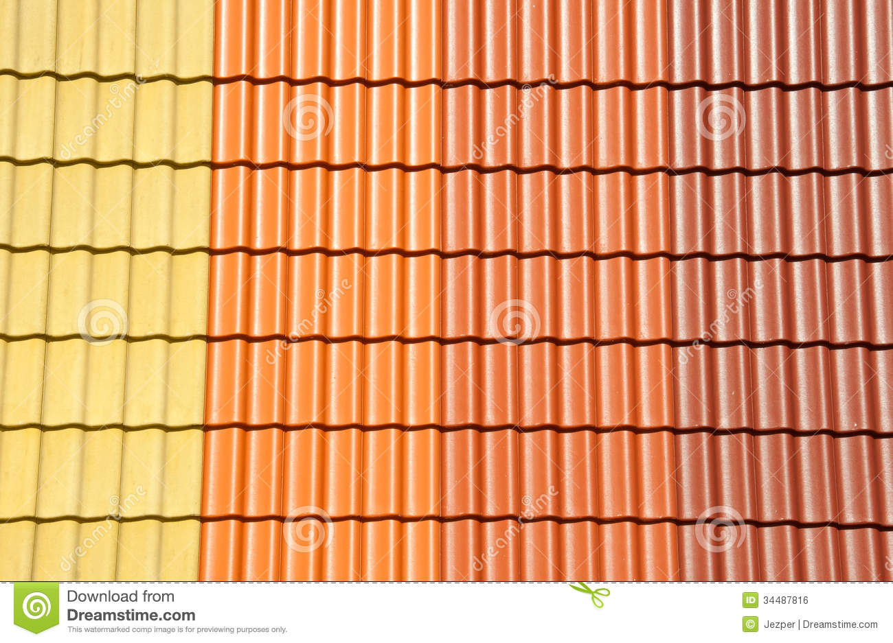 Roof tiles colors stock photo image of close design Different design and colors of tiles