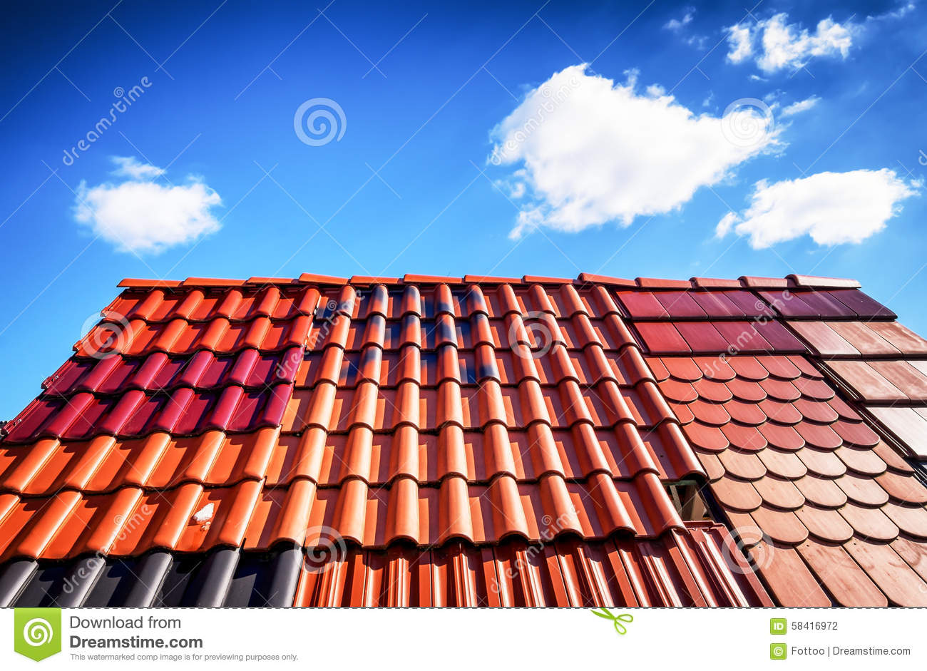 Roof Tiles Stock Photo Image 58416972