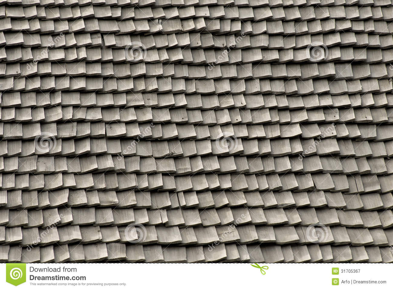 Roof Tiles Made Of Wood Royalty Free Stock Photography