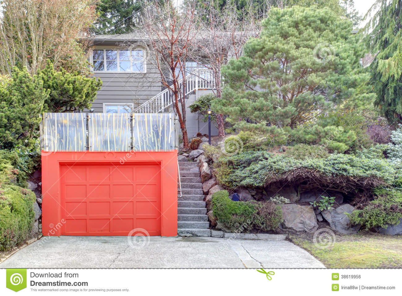Roof top deck over garage royalty free stock image image for House on top of garage