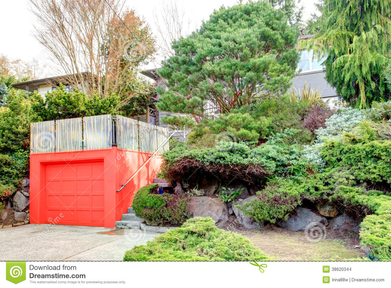 Roof Top Deck Over Garage Stock Images Image 38620344