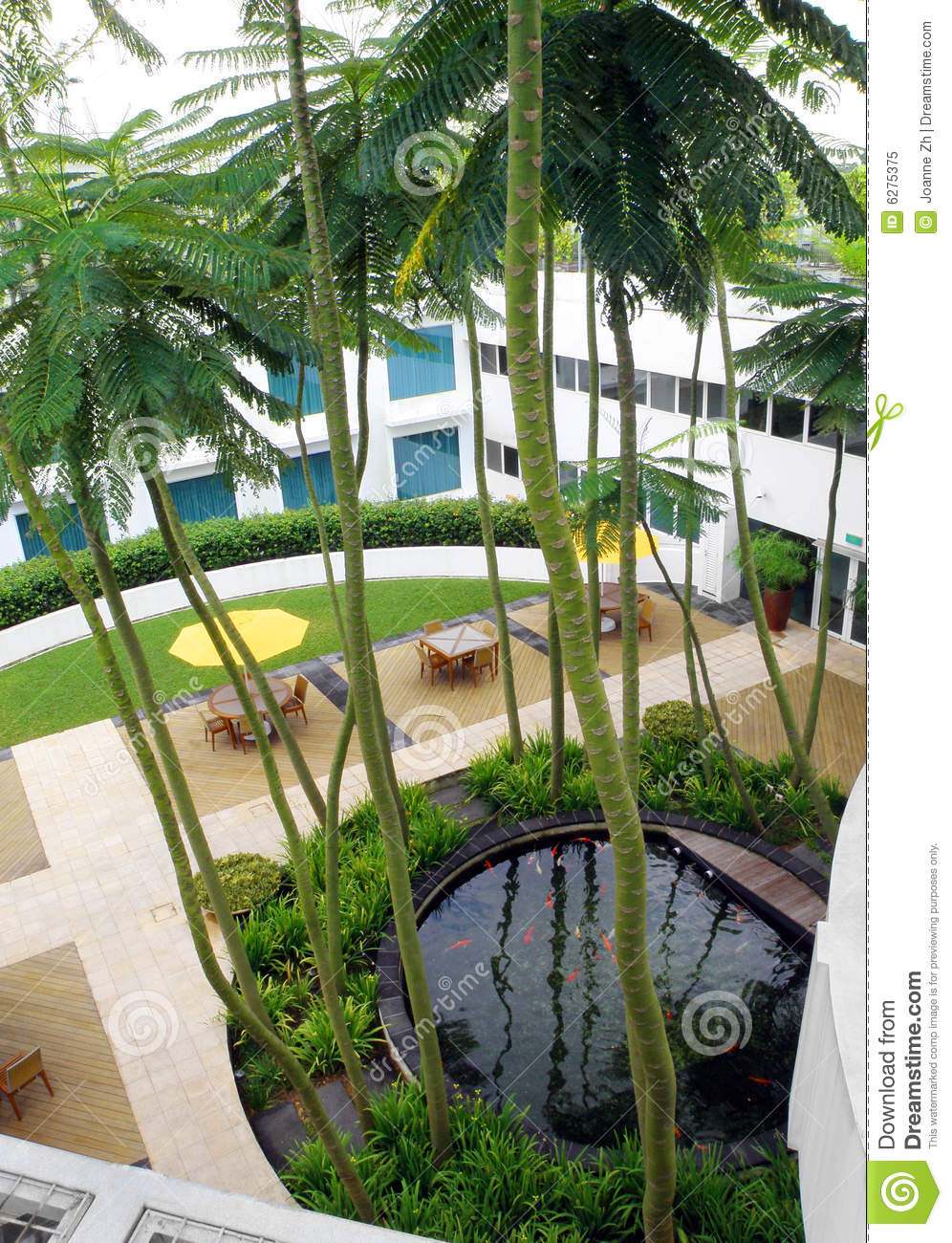 Roof Top Garden Design Royalty Free Stock Photo - Image ...