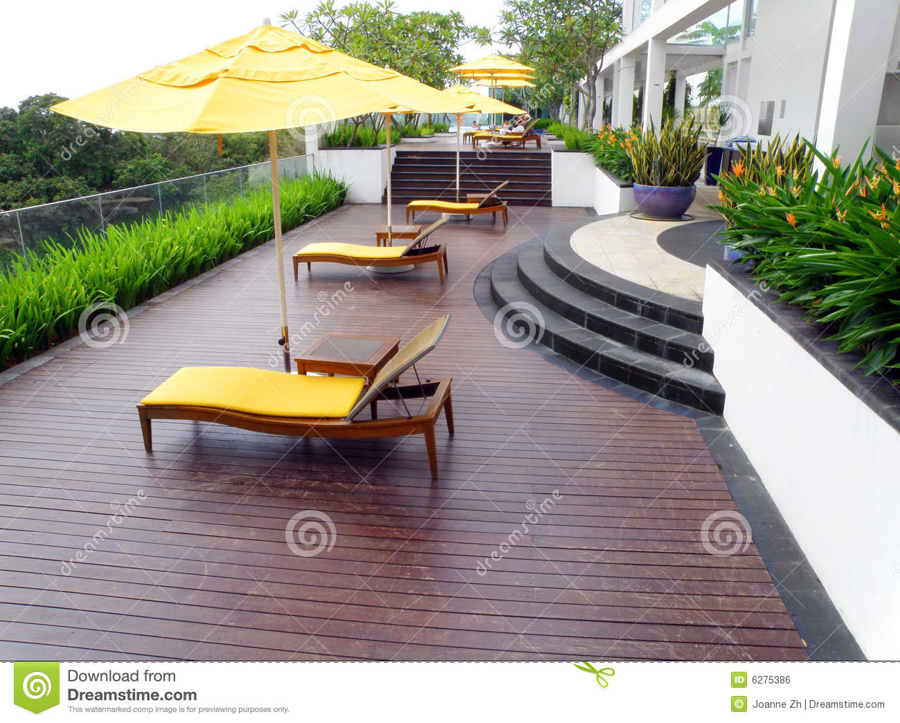 Roof Top Garden Design Royalty Free Stock Image - Image: 6275386