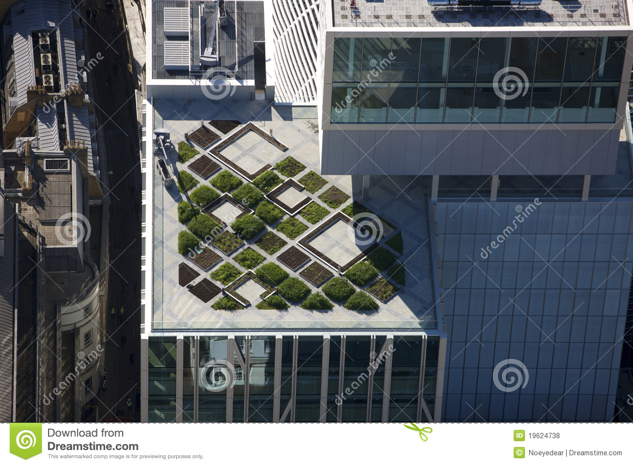 Roof Top Garden Modern Architecture Royalty Free Stock