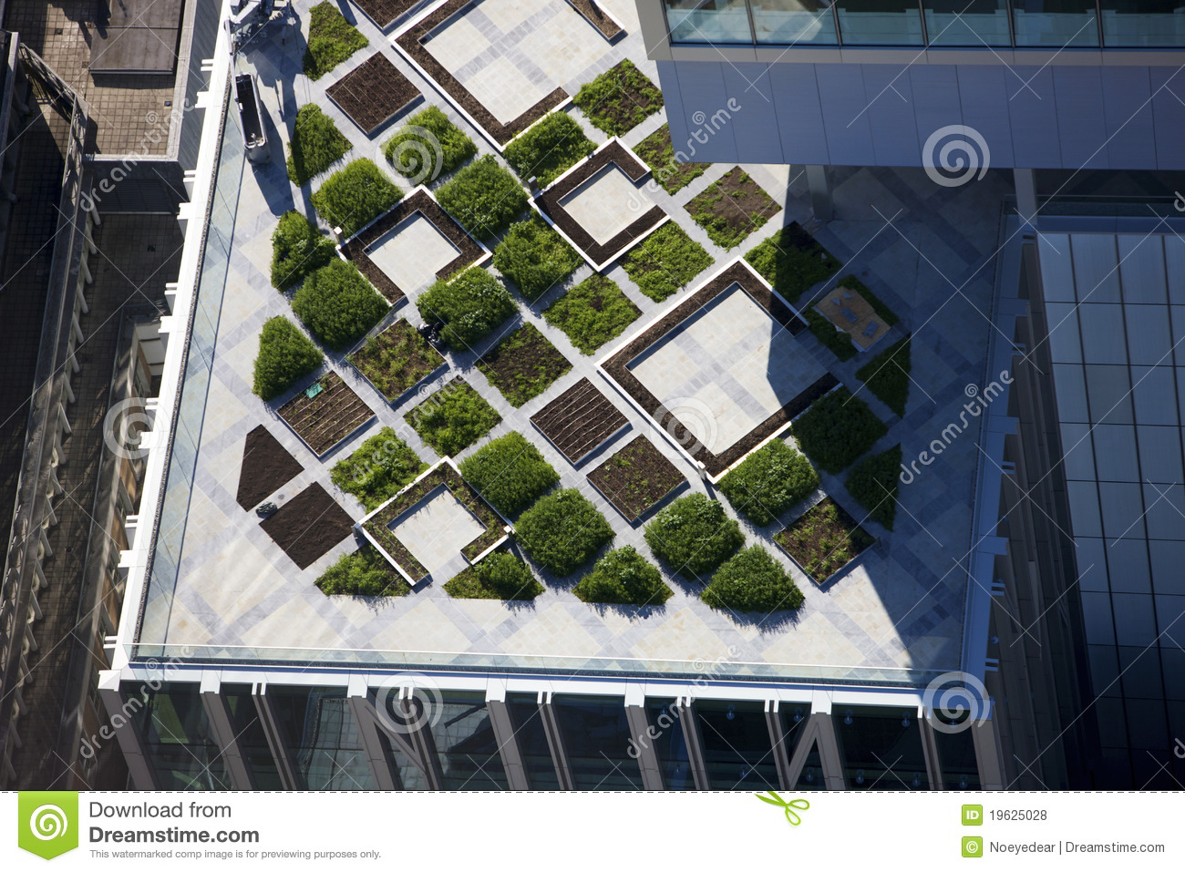 Roof Top Garden Modern Architecture Stock Photo Image Of London Stephens 19625028