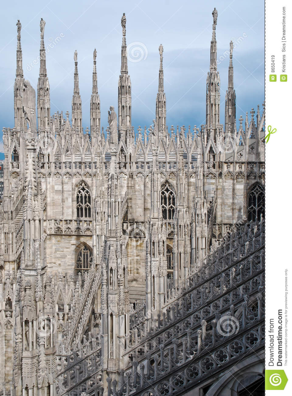 Roof Top Of Milan Cathedral Stock Image Image 8650419