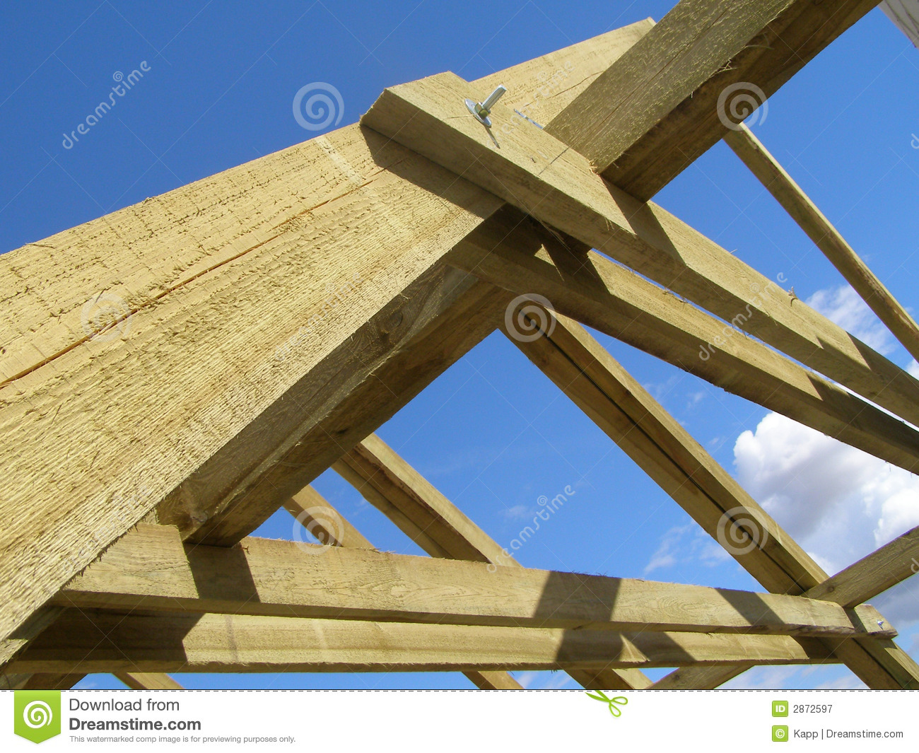 Roof Truss Royalty Free Stock Photography Image 2872597