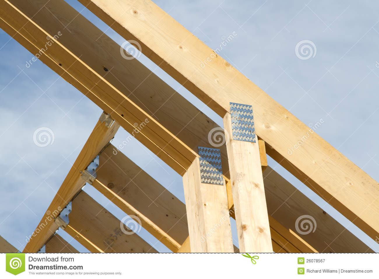 Roof Truss Joiners Royalty Free Stock Photography Image