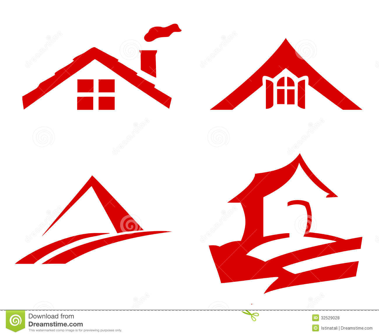Roof With Window Vector Stock Vector Illustration Of Home