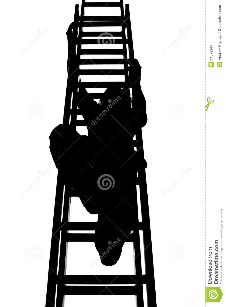Roofer Climbing A Ladder Stock Illustration Image Of