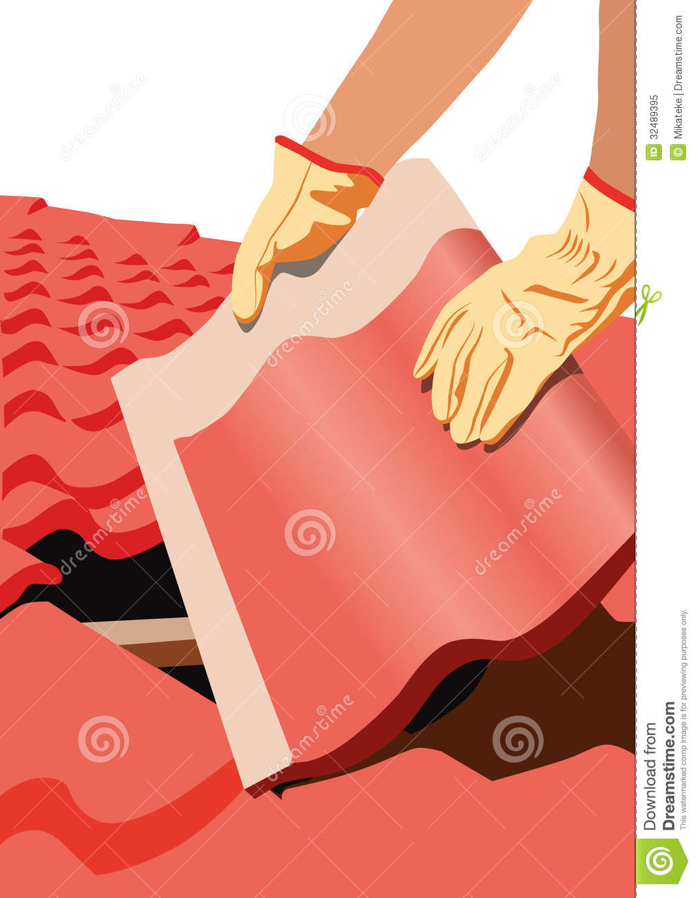roofer-vector-image-who-puts-tile-roof-roof-repairs-building-32489395    Roofer Vector