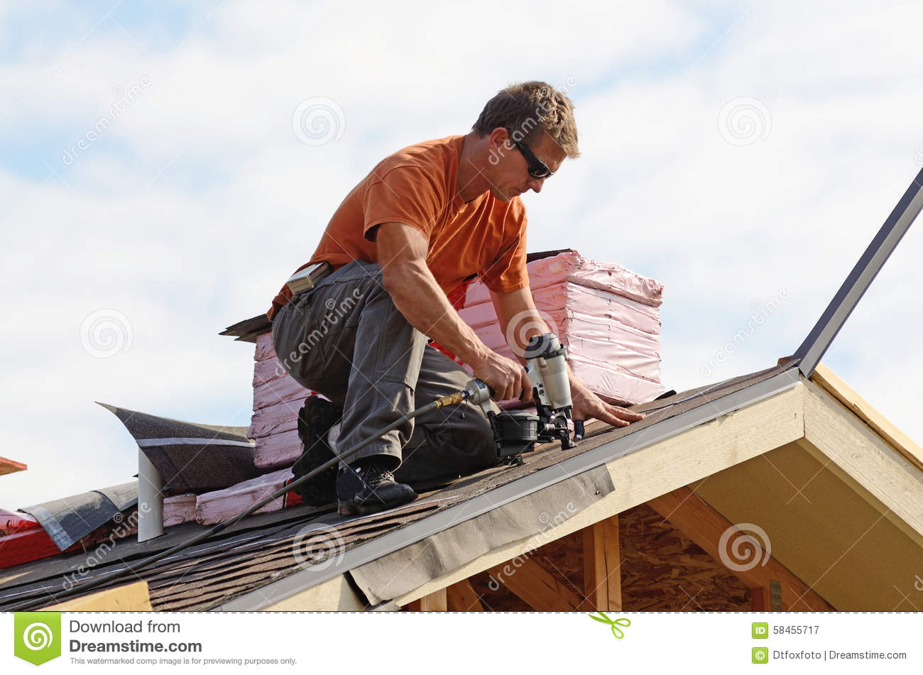 Roofing Stock Photo Image 58455717