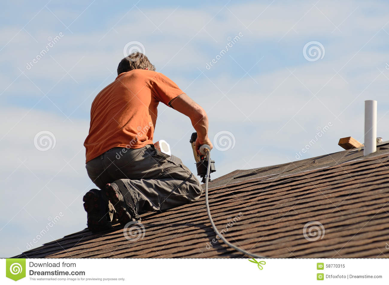 Roofing Stock Image Image Of Timber Workman Nail Cover